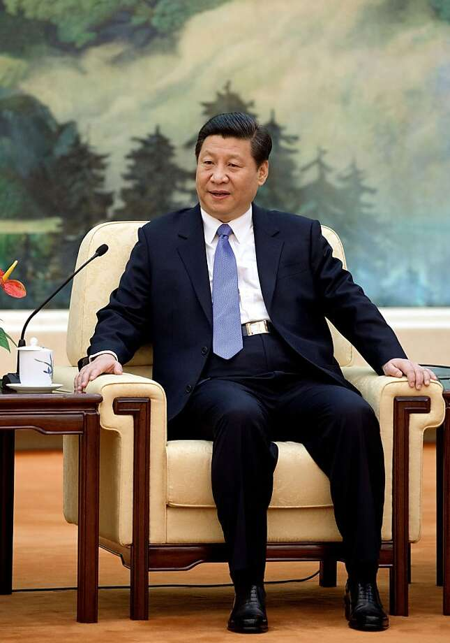 Chinese Communist Party Secretary General and the country's new leader Xi Jinping delivers remarks welecoming African Union chairperson Nkosazana Dlamini-Zuma during their meeting at the Great Hall of the People in Beijing Sunday, Feb. 17, 2013. (AP Photo/Andy Wong) Photo: Andy Wong, Associated Press