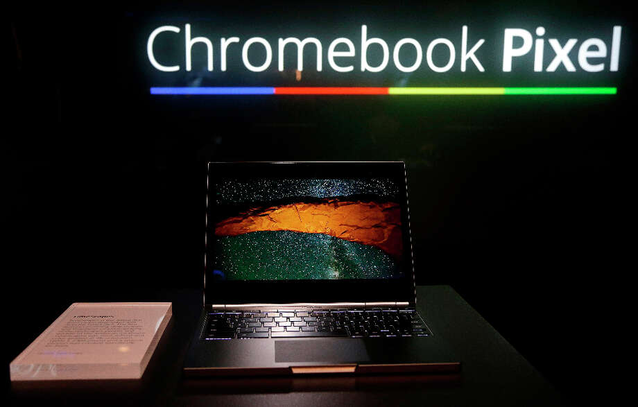 The Google Chromebook Pixel laptop computer is shown at an announcement in San Francisco, Thursday, Feb. 21, 2013. (AP Photo/Jeff Chiu) Photo: Jeff Chiu, Associated Press / AP