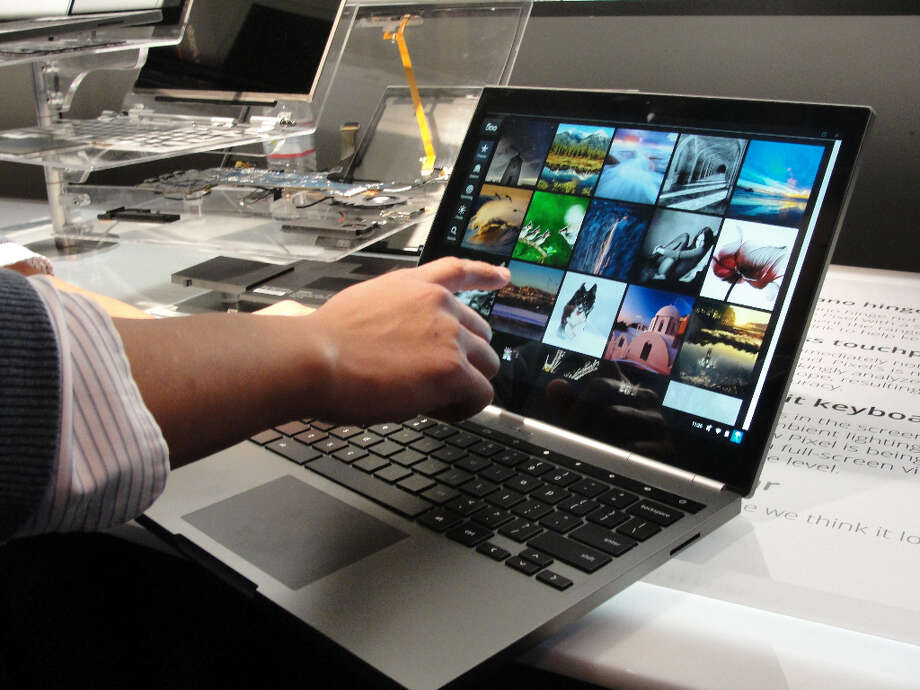 A Chromebook Pixel is on display on February 21, 2013 as Google unveiled in San Francisco the touch-screen notebook computer designed for high-end users. Google said its Chromebook Pixel computers blending tablet and laptop technology, boasting heavyweight Intel chips and screens tailored for rich graphics, were released in the United States and Britain.    AFP PHOTO/GLENN CHAPMANGLENN CHAPMAN/AFP/Getty Images Photo: GLENN CHAPMAN, AFP/Getty Images / AFP