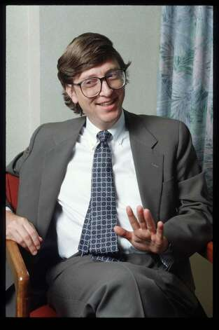 Gates, 1990, in Chicago. (Photo by Steve Kagan/Liaison) Photo: Steve Kagan, Getty / Getty Images North America