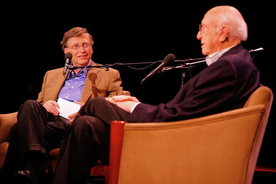 Bill Gates and his father Bill Gates, Sr. attend Bill Gates: A Conversation with My Father at the 92nd Street Y on June 2, 2010 in New York City. Photo: Andy Kropa, Getty / 2010 Andy Kropa