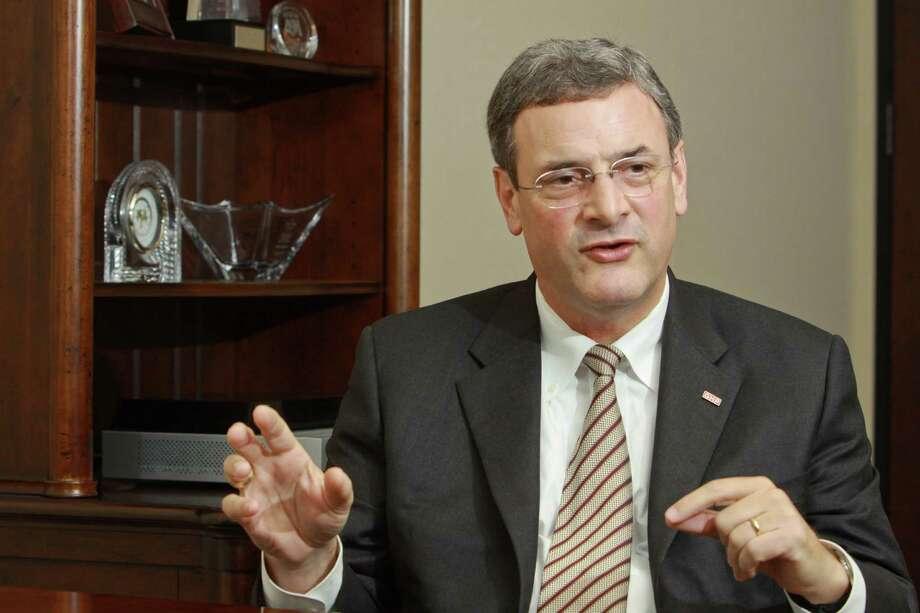 (For the Chronicle/Gary Fountain, February 21, 2013) Bob Harvey, CEO of the Greater Houston Partnership. Photo: Gary Fountain, Freelance / Copyright 2013 Gary Fountain.