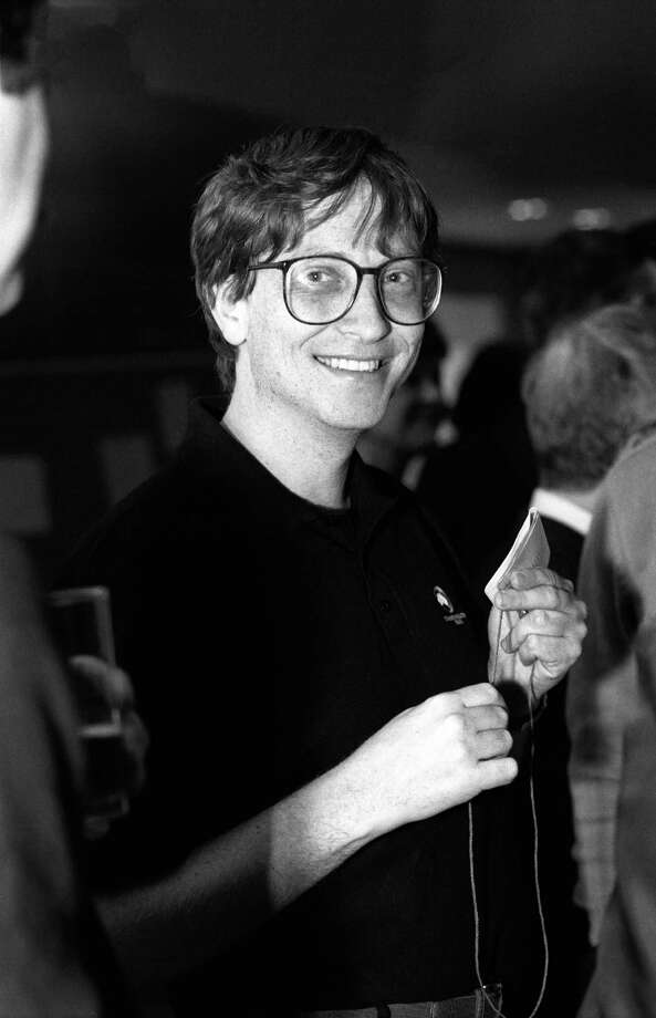 Gates at the PC Forum in Arizona in 1991. Photo: Ann Yow-Dyson/Getty Images, Getty / Photo by Ann Yow-Dyson, all rights reserved
