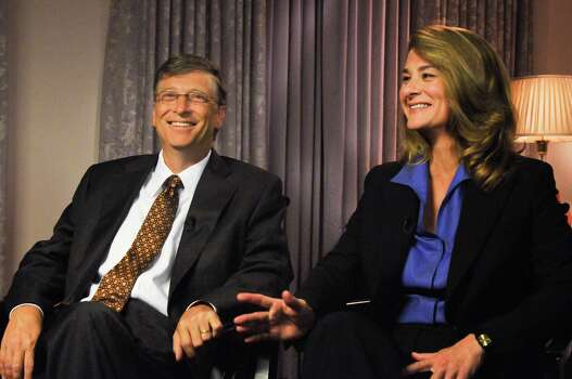 "Bill and Melinda Gates appear on ""Meet the Press"" in Washington, D.C., in 2009. Photo: William B. Plowman, Getty / © NBC Universal, Inc."