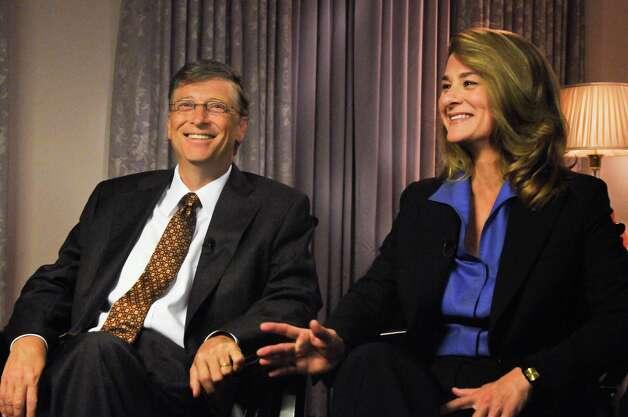 "Bill and Melinda Gates appear on ""Meet the Press"" in Washington, D.C., in 2009. Photo: William B. Plowman, Getty / © NBC Universal, Inc."