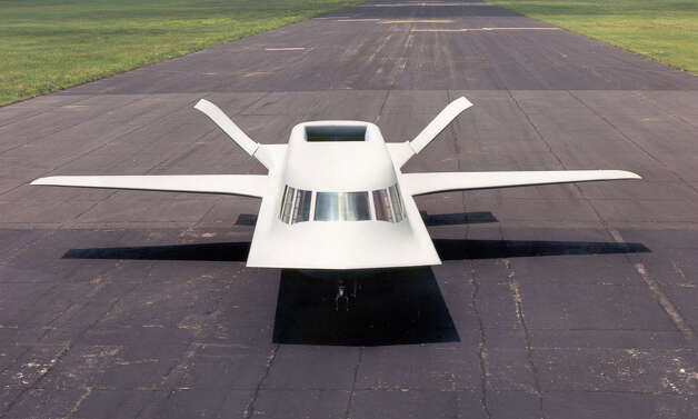 The U.S. Air Force, the Defense Advanced Research Projects Agency and Northrop worked together on the Tacit Blue Whale from 1978 to 1985, to test the advances in stealth technology. Specifically, it demonstrated that curved surfaces on an aircraft slash an airplane's radar visibility. Photo: U.S. Air Force