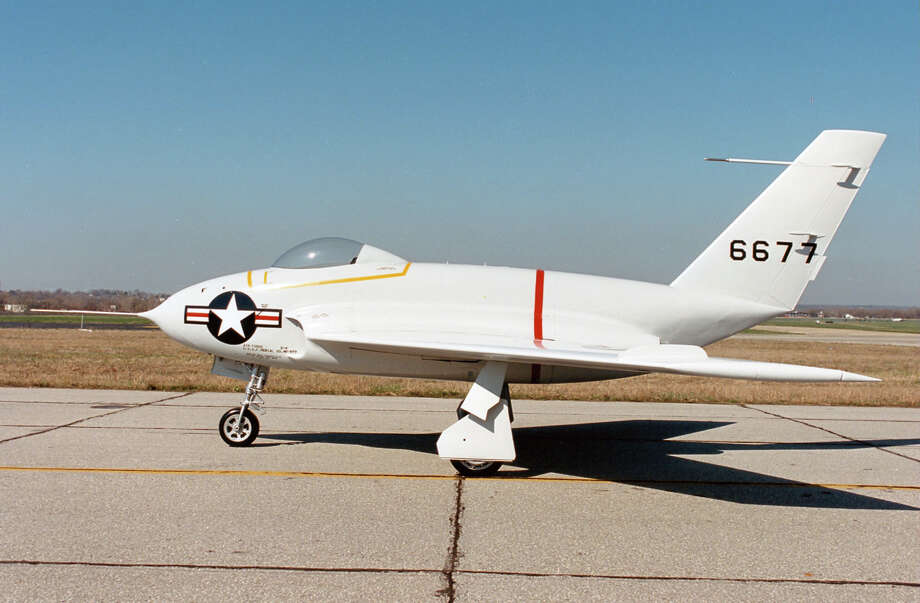 The Northrop X-4 was built to study the flight characteristics of swept wing semi-tailless aircraft at transonic speeds (about Mach .85). The two X-4s built flew 102 times between 1948 and 1953. Photo: U.S. Air Force