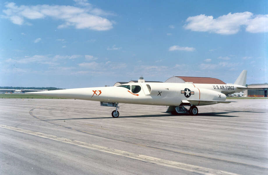 The Douglas X-3 Stiletto was designed to test features of an aircraft suitable for sustained flights at supersonic speeds and high altitudes. It first flew in 1952, but engine development difficulties forced the use of lower powered engines than originally planned, limiting its potential. Photo: U.S. Air Force