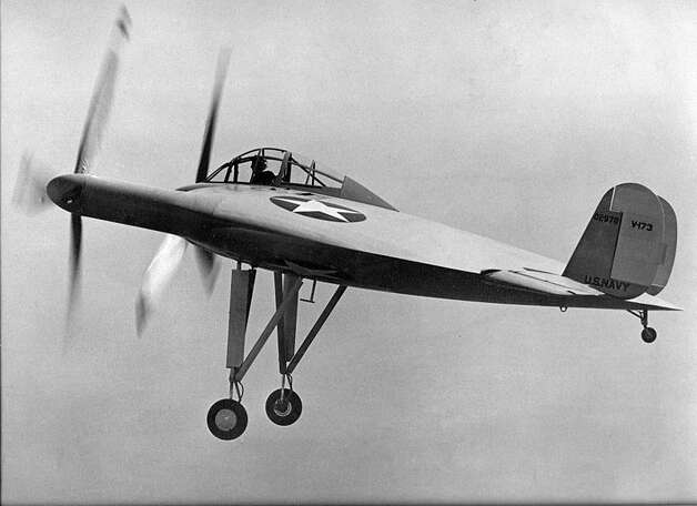 "Boeing's troubles with the 787 Dreamliner are a reminder that innovation is risky, particularly in aerospace. For us, it brought to mind the many odd airplane ideas that actually few during World War II, the Cold War and since. Here are some of our favorites, starting with the Vought V-173 ""Flying Pancake.""The idea of the V-173 was to allow flight at very slow speeds, with short takeoffs and landings, and high maneuverability. Designer Charles Zimmerman put the propellers at the wingtips to reduce drag created by airflow at the tips of conventional wings. It flew more than 190 times between 1942 and 1947. Photo: U.S. Navy"