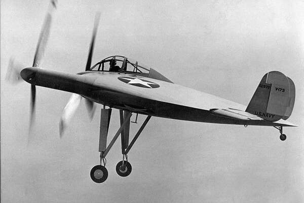 "The Vought V-173 ""Flying Pancake"" was to allow flight at very slow speeds, with short takeoffs and landing, and high maneuverability. Designer Charles Zimmerman put the propellers at the wingtips to reduce drag created by airflow at the tips of conventional wings. It flew more than 190 times between 1942 and 1947."