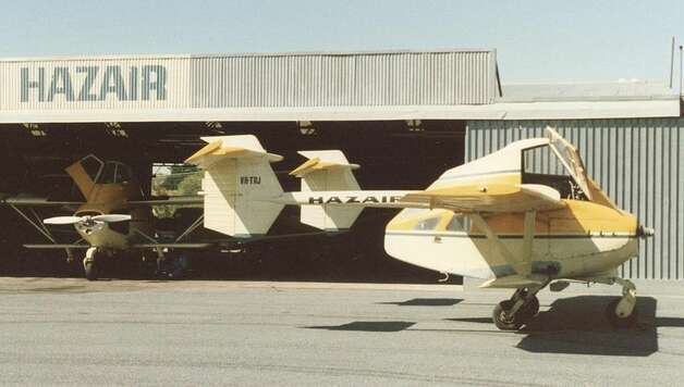 The Transavia PL-12 Airtruk, which first flew in 1965, was designed for use in agriculture, with a 1-metric-ton hopper. Photo: RuthAS/Wikimedia Commons