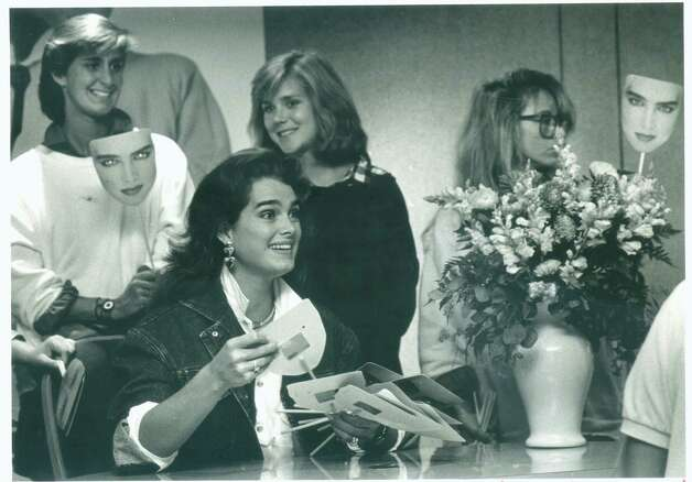 Aug. 19, 1985: Model, actress and student Brooke Shields shows many faces as she pushes her book and her line of sportswear at the Saks Fifth Avenue store in the Stamford Town Center. Photo: Staff  File Photo, The Advocate / The Advocate
