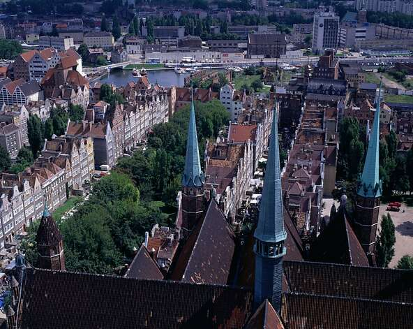 The rooftops of Gdansk are visible from the tower of St. Mary's Church, which was reconstructed after being badly damaged in World War II. Photo: Manfred Gottschalk, Lonely Planet Images