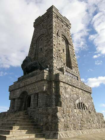 The 98-foot-tall Shipka Memorial, which stands on a peak near Shipka Pass Photo: Shipka Memorial