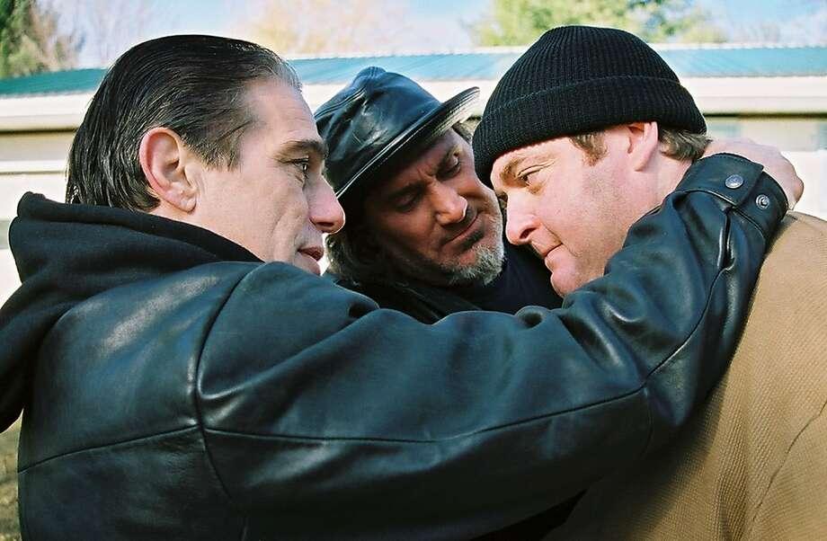 "Tony Danza (left), Duke Valenti and Chris Penn in Thomas Farone's ""Aftermath."" Photo: Joe Glickman"