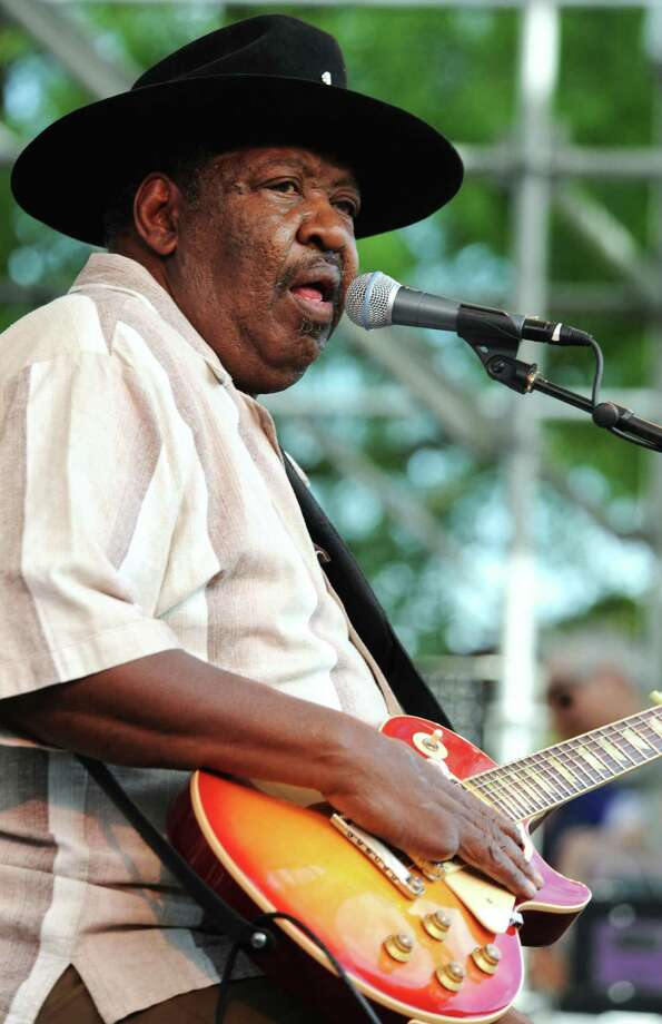 Magic Slim performs  with his band at a blues festival in Portland, Ore., in 2009. The Mississippi native died early Thursday in Philadelphia. Photo: Associated Press File Photo