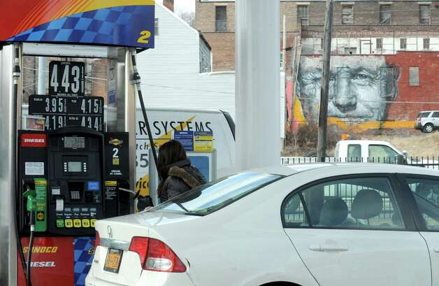 Gas prices at a Sunoco on Broadway Thursday Feb. 21, 2013 in Albany, N.Y. .(Michael P. Farrell/Times Union) Photo: Michael P. Farrell