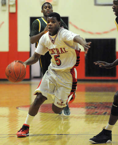 Tyler Ancrum. Central vs. Trinity Catholic boys basketball at Central High School in Bridgeport on Monday, February 20, 2012. Photo: Brian A. Pounds / Connecticut Post