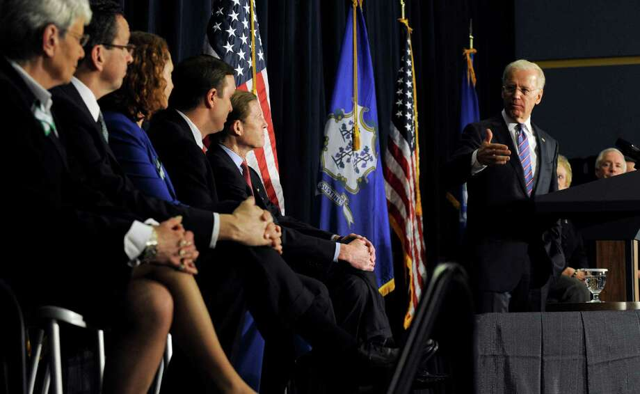 Vice President Joe Biden spoke at a conference on gun violence at Western Connecticut State University in Danbury, Conn., Thursday, Feb. 21, 2013. Photo: Carol Kaliff / The News-Times
