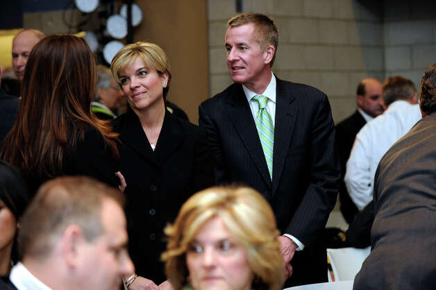 Lynn and Chris McDonnell, whose daughter Grace, was a victim of the Sandy Hook shootings, attend at conference on gun violence at Western Connecticut State University, Thursday, Feb. 21, 2013. Photo: Carol Kaliff