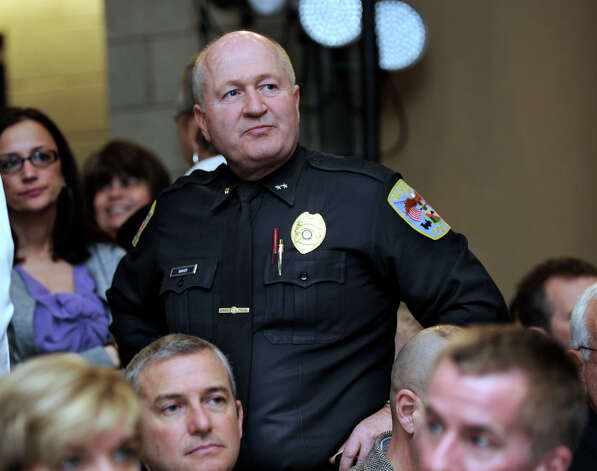 Danbury Police Chief Al Baker attends a conference on gun violence is held at Western Connecticut State University, in Danbury, Conn. Thursday, Feb. 21, 2013 Photo: Carol Kaliff / The News-Times