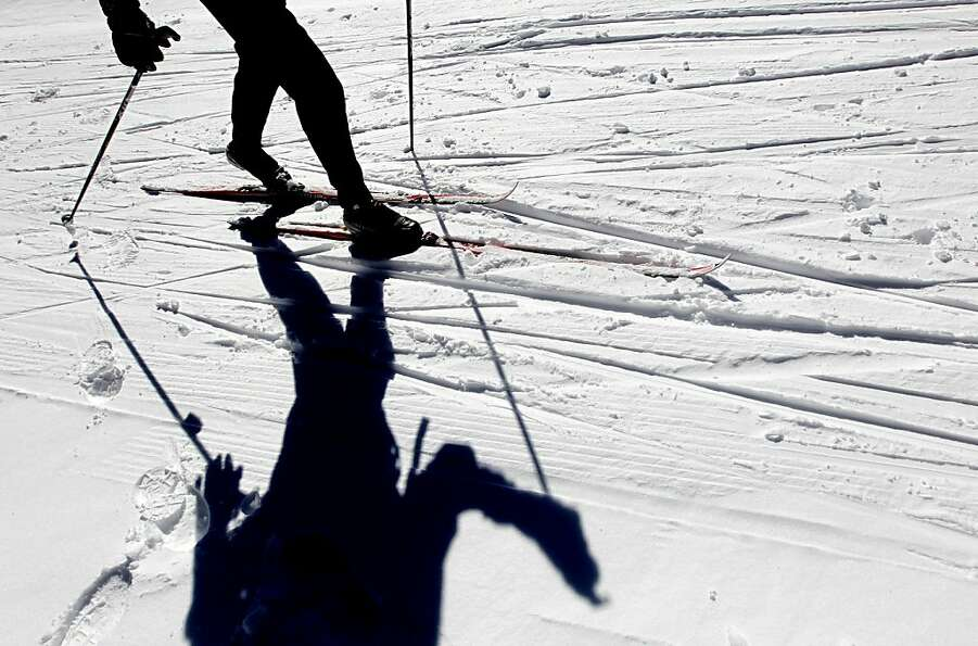 A cross-country skier enjoys one of the groomed trails at the Royal Gorge resort. Fans of the sport