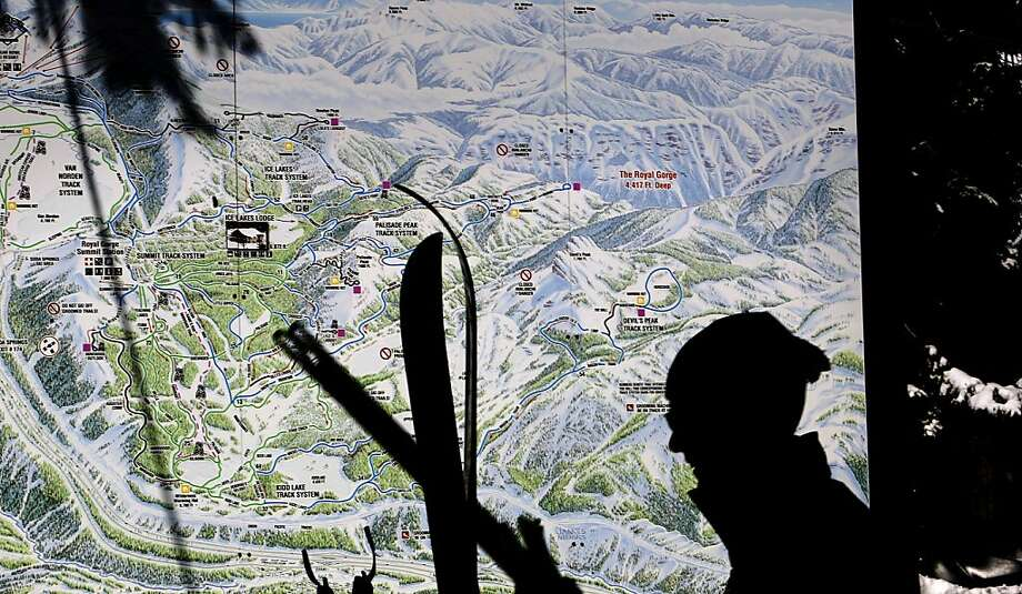 A large map shows the trails through the Royal Gorge cross-country ski area, which is being revived. Photo: Michael Macor, The Chronicle