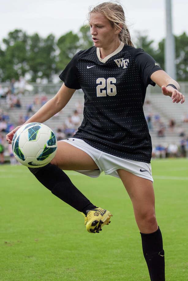 Kristen MeierPosition: midfielderAge: 21Hometown: Alpharetta, Ga.Last club: Wake Forest Photo: Shane M Lardinois