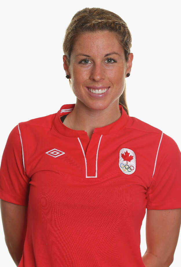 Emily ZurrerPosition: defenderAge: 25Hometown: Crofton, B.C., CanadaLast club: Canadian national team Photo: Robert Cianflone, Getty Images / 2012 Getty Images
