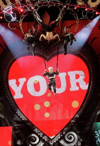 Singer Pink performs at the Toyota Center Thursday, Feb. 21, 2013, in Houston. ( Melissa Phillip / Houston Chronicle ) Photo: Melissa Phillip, Staff / © 2013  Houston Chronicle