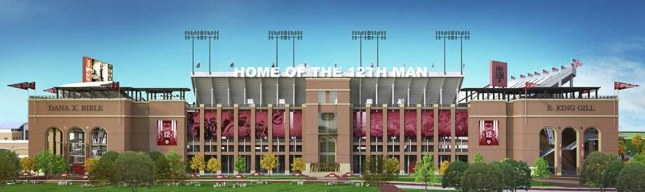 A rendering of the future east side of Kyle Field, where A&M will keep playing while renovations are made. Photo: 12th Man Foundation