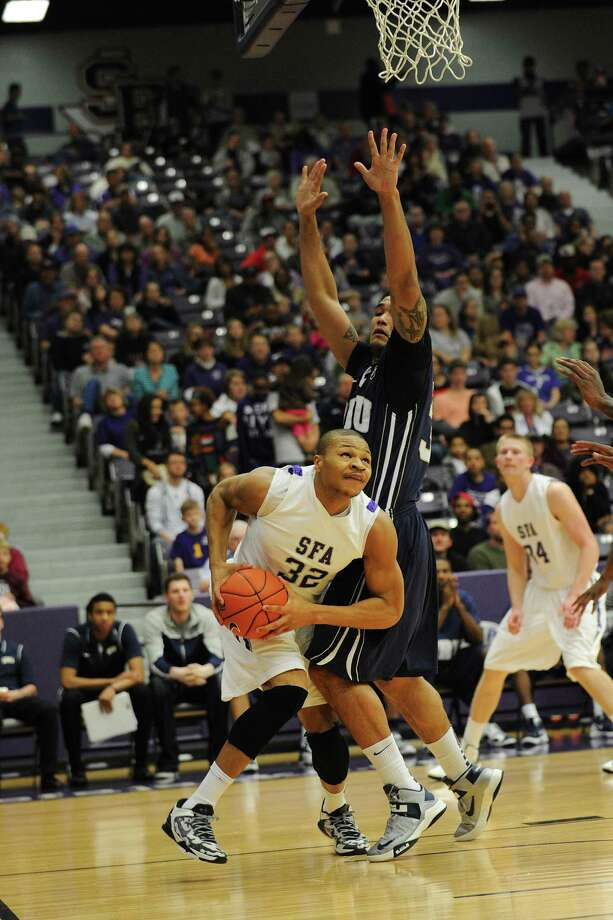 SFA senior Taylor Smith (left), a Clemens grad, is shooting 70.7 percent from the field to lead all Division I players. Photo: Courtesy Of SFA Athletics