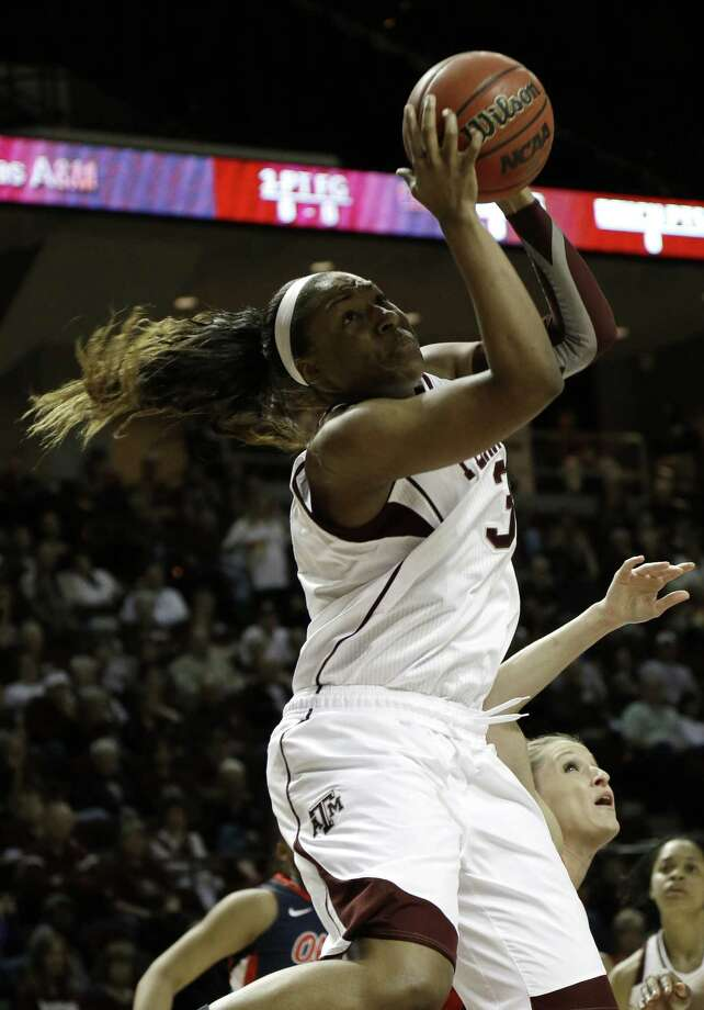 Aggies post Kelsey Bone scored 24 points while adding a career-high 17 rebounds during a blowout of an overmatched Ole Miss team on Thursday. Photo: Pat Sullivan / Associated Press