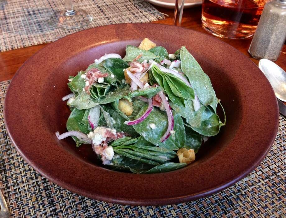 Fava leaves salad at Osteria Stellina in Point Reyes Station