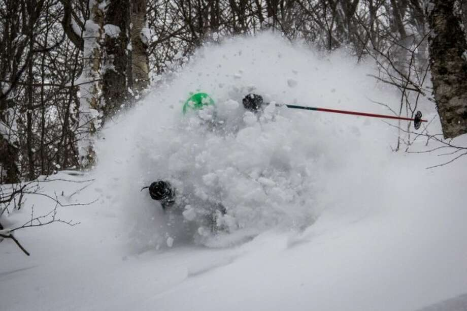 A skier on Jay Peak in northern Vermont is seen in this file photo.