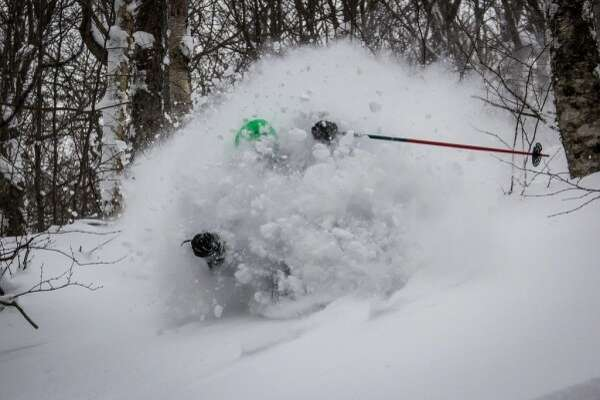 Incredible. Jay Peak in northern Vermont has received nearly three feet of snow in the last week.