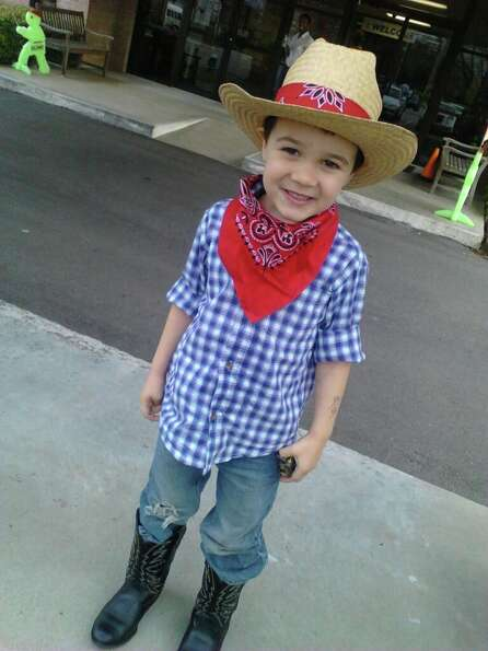 Nate is in the rodeo spirit.