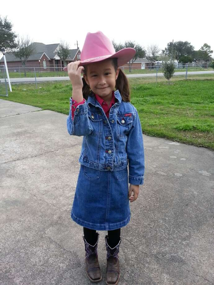 Denim suits this little cowgirl. Photo: Reader Submission