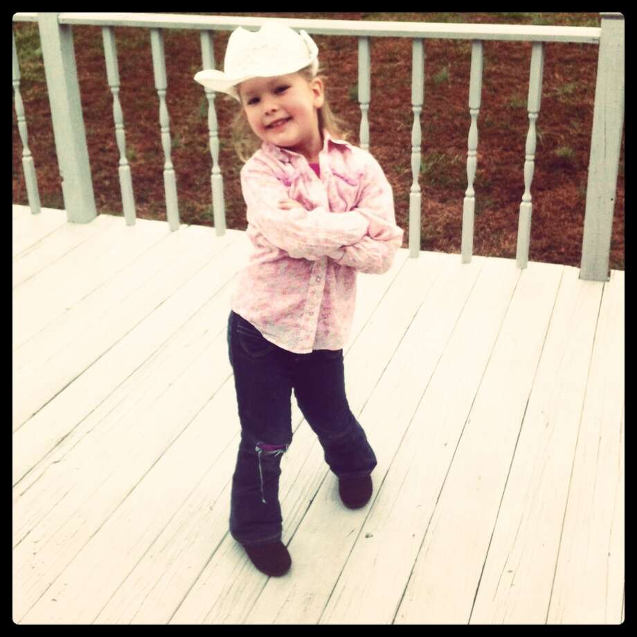 Brooke, age 4, moved to Tennessee, but she still gets in the Texas spirit. Photo: Reader Submission