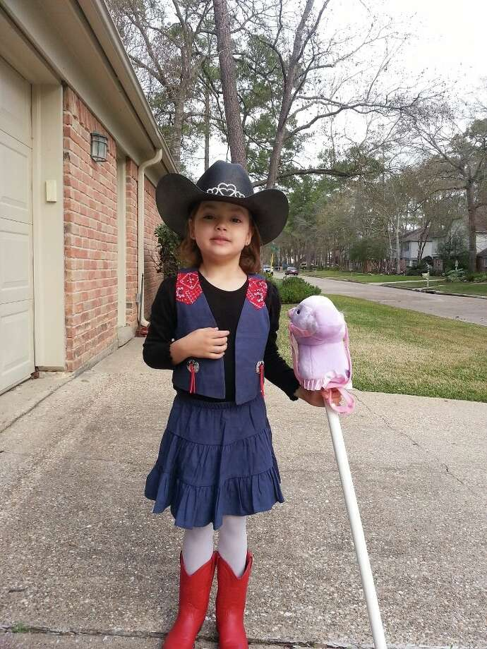 Reagan and her pink horse. Photo: Reader Submission