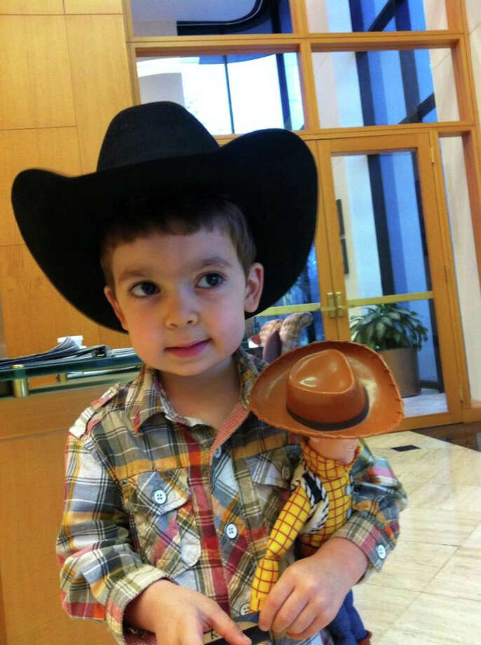 This little cowboy brings his friend Woody along for the ride. Photo: Reader Submission