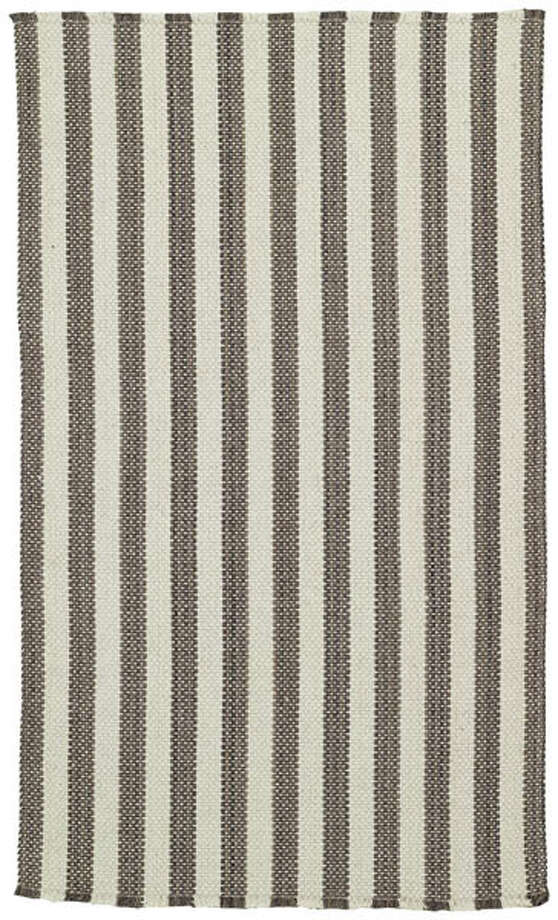 I love the casual feel of this wool-blend area rug from Capel Rugs. The Hampton Rug in gray stripe (shown) would also look great in a formal space. Six sizes available, starting at $69. capelrugs.com