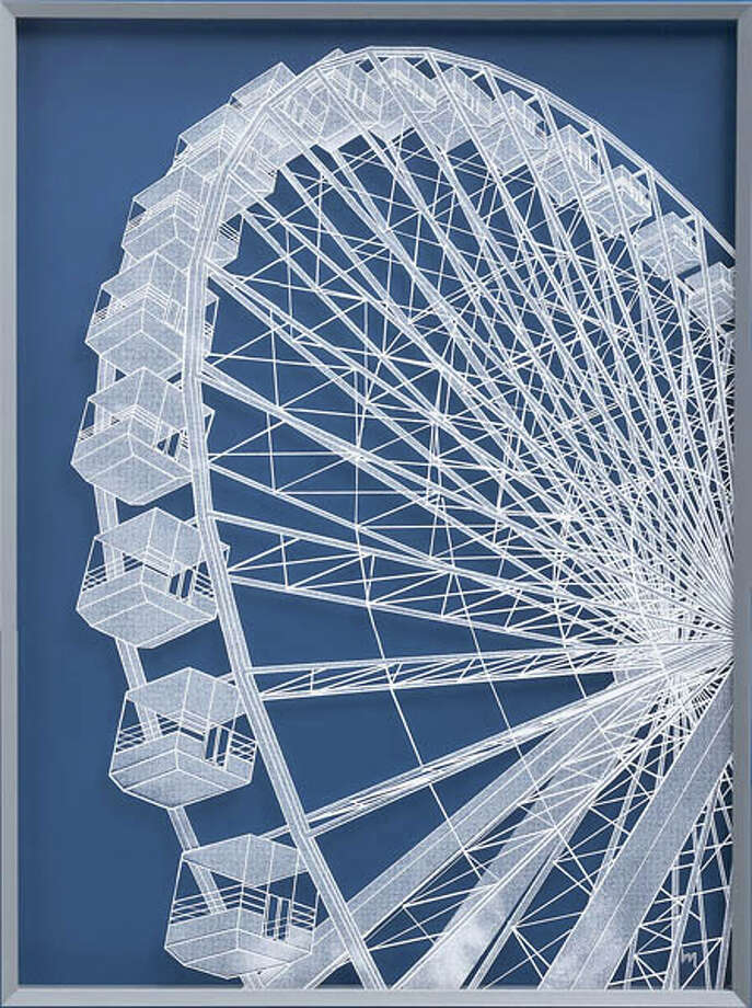This dynamic Ferris Wheel print by Ben Holiday would make a statement in any living space! Measuring 36 x 48, it's a limited-edition print. $249.cb2.com