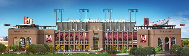 Rendering of Kyle Field east side. Courtesy of 12th Man Foundation