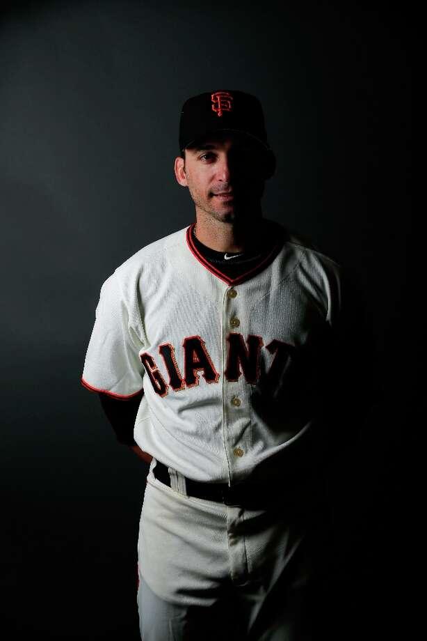 Marco Scutaro poses on San Francisco Giants Photo Day. Photo: Morry Gash, Associated Press / MLBPV AP