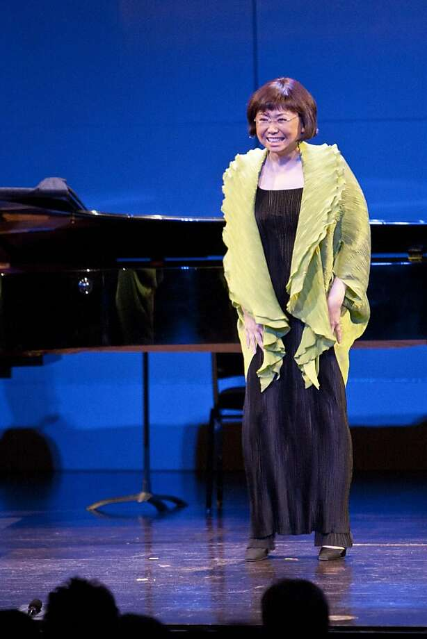 "In 2011, Mezzo soprano Zheng Cao sang ""You'll Never Walk Alone"" at the concert for Frederica von Stade after telling the audience that throughout her continuing battle with cancer, Flicka would come to the hospital and sing with her to keep her spirits up. Photo: Drew Altizer"
