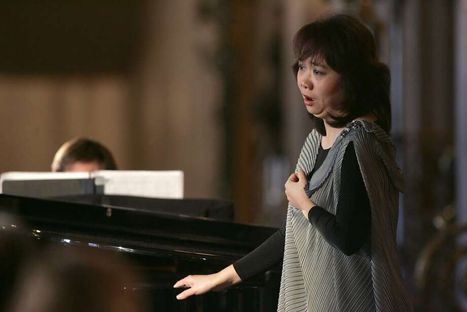 "Zheng Cao performs a piece from ""The Bonsetter's Daughter""  at the San Francisco Opera announcement of the 2008-09 season at the War Memorial Opera House. Photo: Lea Suzuki, SFC"