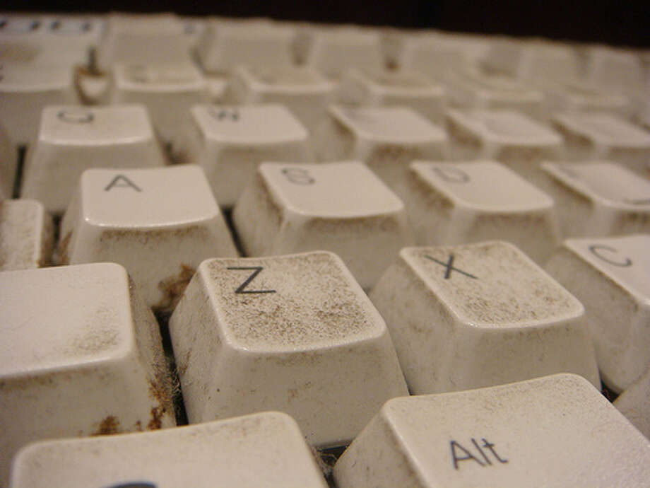 Dirty keyboards: Keyboards can be a breeding ground for bacteria if not kept clean. Microbiologists found that keyboards can even have up to five times as many bacteria as a bathroom, and can include dangerous ones like e.Coli and coliforms — both commonly associated with food poisoning — along with staphylococcus, which causes a range of infections. (Photo: Nevermindtheend, Flickr)Source: Business Insider Photo: Flickr