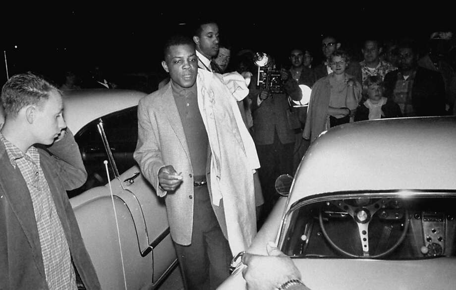 San Francisco Giants player Willie Mays walking to his car after the Giants-Braves game in San Francisco. Photo: Jon Brenneis, Getty Images