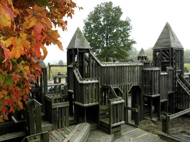 The Creative Playground at Pettibone School in New Milford, was razed in mid-October 2008 after more than 20 years' service to the community. Photo: Norm Cummings